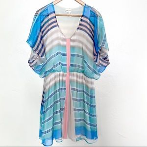 Anthro Meadow Rue ombré striped dress size small